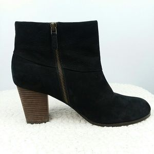 Cole Haan Nike Air Black Nubuck Cassidy Bootie 10